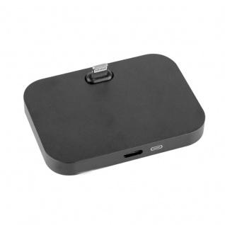 Dockingstation Dock für Apple iPhone 7 6S 6 und Plus SE Tischladestation Schwarz
