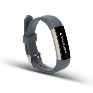 Für Fitbit Alta HR Kunststoff / Silikon Armband für Frauen / Größe S Dunkelgrau