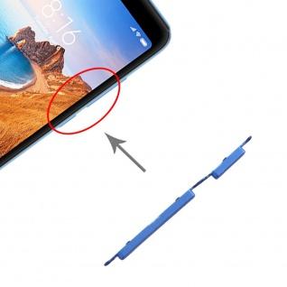 Für Xiaomi Redmi 7A Sidekeys Seitentasten Blau Ersatzteil Zubehör Reparatur