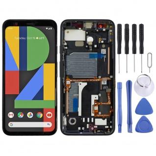 Für Google Pixel 4 OLED Display LCD Touch mit Rahmen Ersatz Reparatur Schwarz