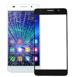 Displayglas Glas Schutz Schwarz für Huawei Honor 6 Reparatur Ersatz Zubehör Neu