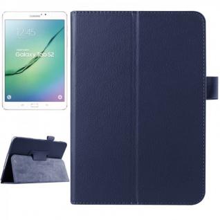 Schutzhülle Dunkelblau Tasche für Samsung Galaxy Tab S2 8.0 SM T710 T715N Hülle