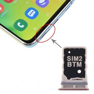 Sim Karten Halter + SIM Karten Halter für Samsung Galaxy A80 Gold Card Tray Neu