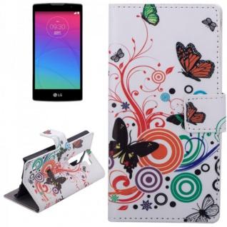 Schutzhülle Muster 2 für LG Spirit C70 H420 Bookcover Tasche Hülle Wallet Case