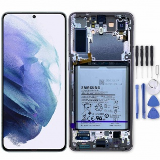 Samsung Display LCD Einheit für Galaxy S21 Plus G996B GH82-24555B Violett Ersatz