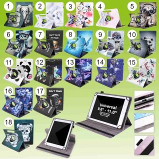 Für Huawei Tablet Motiv 360 Grad Rotation Tasche Kunst-Leder Hülle Etuis Cover