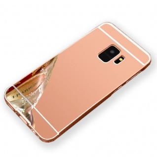 Mirror Alu Bumper 2teilig Pink für Samsung Galaxy S9 G960F Tasche Hülle Case Neu