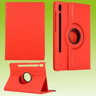 Für Samsung Galaxy Tab S7 Plus / S7 FE Tablet Tasche Hülle Case Etuis Schutz Rot Cover