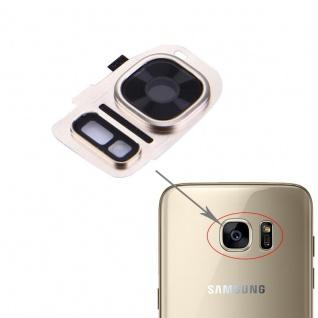 Für Samsung Galaxy S7 G930F Kamera Ring Glas Abdeckung Rahmen Cover Gold Schutz
