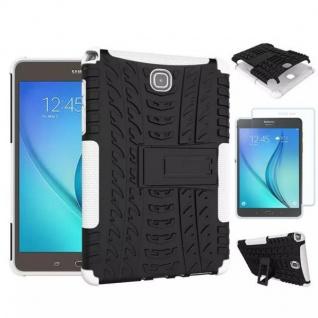 Hybrid Outdoor Tasche Weiß für Samsung Galaxy Tab A 9.7 T550 + 0.4 H9 Hartglas