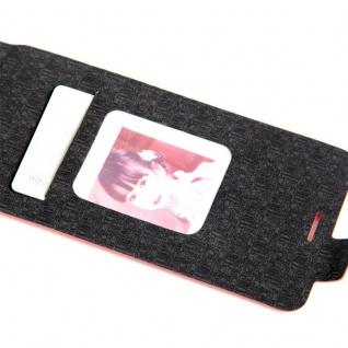 Flip Tasche Schwarz für Huawei New P8 Lite 2017 Hülle Case Etui Neu Schutz Top - Vorschau 2