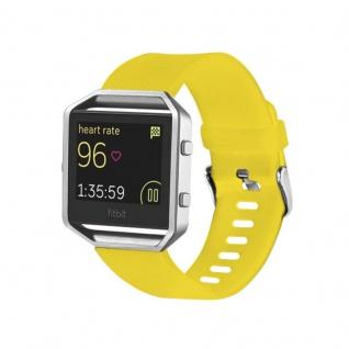 Kunststoff / Silikon Uhr Armband für Fitbit Blaze Watch Gelb Zubehör 17-20 cm