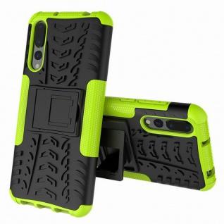 Für Huawei P Smart Plus Hybrid Case 2teilig Outdoor Grün Tasche Hülle Cover Neu