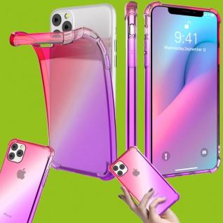 Für Apple iPhone 11 6.1 Silikon TPU Pink / Lila Tasche Hülle Etuis Cover Case