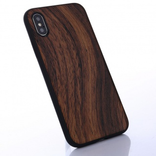 Hybridcase Holz-Optik Hell Hülle für Apple iPhone X / 10 Etui Schutz Tasche Neu
