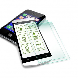 2x 2.5D 0, 26 mm H9 Hart Glas Tempered Schock Folie für Huawei P30 Display Schutz