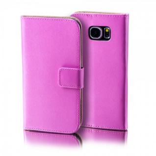 Schutzhülle Pink für Huawei Y6 Bookcover Tasche Hülle Wallet Case Flip Etui Neu