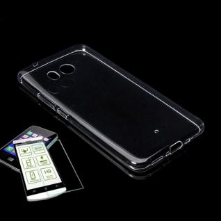 Silikoncase Transparent Tasche + 0, 3 H9 Panzerglas für HTC U11 Life Hülle Schutz