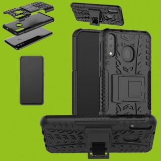 Für Samsung Galaxy M20 M205F Hybrid 2teilig Outdoor Schwarz Tasche Hülle Etuis