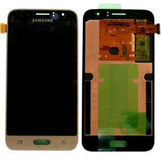 Display LCD Komplettset GH97-18224B Gold für Samsung Galaxy J1 J120F 2016 Neu