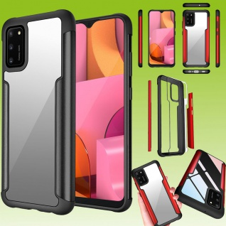 Für Samsung Galaxy A02S A025F Hybrid Iron Man Schwarz Handy Tasche Etuis Hülle