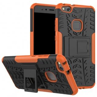New Hybrid Case 2teilig Outdoor Orange für Huawei P10 Lite Tasche Hülle Cover