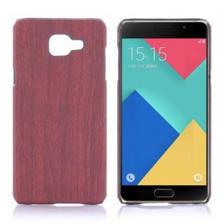 Hardcase Holz-Optik Dunkel Hülle für Samsung Galaxy A5 2016 A510F Case Tasche