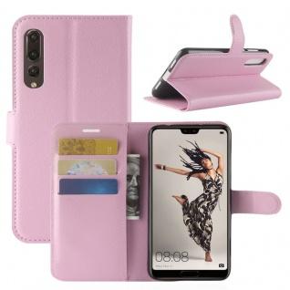 Tasche Wallet Premium Rosa für Huawei P20 Pro Hülle Case Cover Schutz Schale Neu
