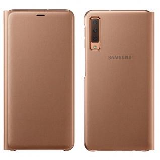 Samsung Wallet Cover Hülle EF-WA750PFEGWW Galaxy A7 2018 A750F Schutzhülle Gold