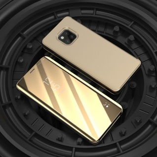 Für Xiaomi Redmi Note 6 Pro Clear View Smart Cover Gold Tasche Hülle Wake UP Neu