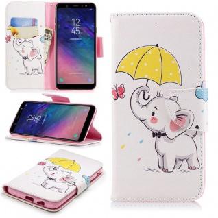 Für Huawei Y6 2018 Kunstleder Tasche Book Motiv 37 Schutz Hülle Case Cover Etui