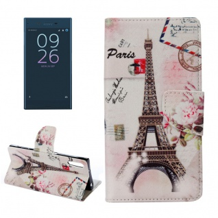 Tasche Wallet Premium Muster 20 für Sony Xperia XZ F8331 Bookcover Hülle Case