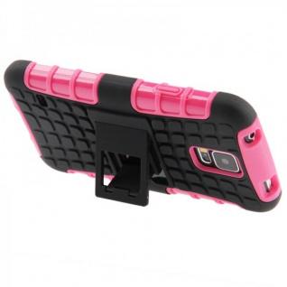 Hybrid Case 2 teilig Robot Pink Cover Hülle für Samsung Galaxy S5 Mini G800 F A - Vorschau 3