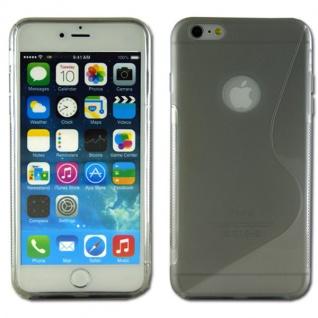 Silikon Case S-Line Bull Eye Grau für Apple iPhone 6 Plus 5.5 Hülle Cover Neu