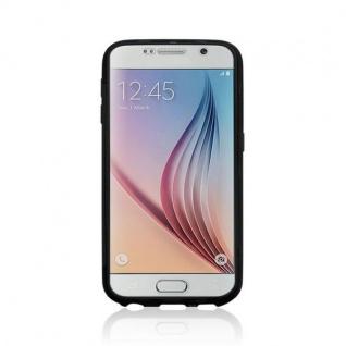 Design Cover mit Frontabdeckung Schwarz für Samsung Galaxy S6 G920 G920F Tasche - Vorschau 3