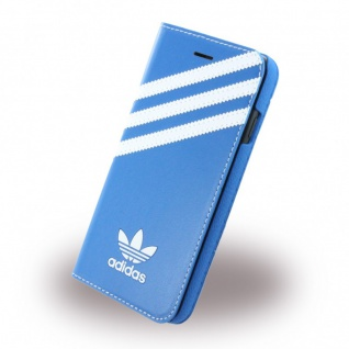 Adidas Basics Tasche Book Cover Apple iPhone 7 Schutz Hülle Handytasche Etui TOP