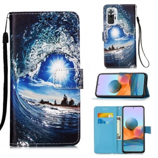 Für Xiaomi Redmi Note 10 Pro Kunst-Leder Handy Tasche Motiv 10 Hülle Case Etuis