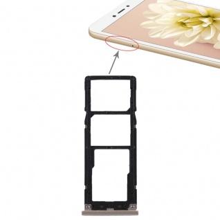 Für Xiaomi Redmi Note 5A Karten Halter Sim Tray Schlitten Holder Ersatz Gold Neu
