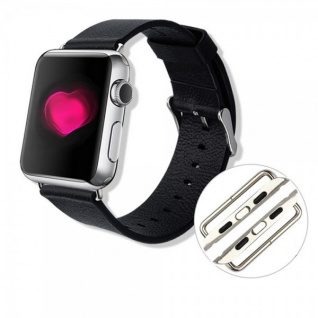 Premium Metall Adapter Halter Armband Farbe Silber für Apple Watch 38mm Zubehör