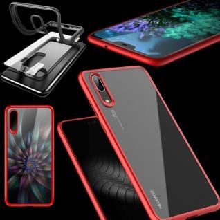 Original ROCK Bumper Case für Huawei P20 Cover Schutz Tasche Hülle Etui Rot Neu