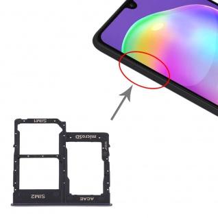 Dual Sim Karten Halter Samsung Galaxy A31 Schwarz Card Tray Micro SD Ersatzteil