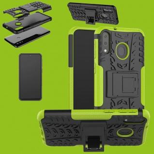 Für Samsung Galaxy A20e Hybrid Case 2teilig Outdoor Grün Tasche Etuis Hülle Neu