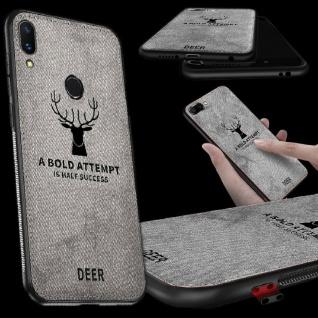 Premium Tasche Silikon Kunstleder Grau für Huawei Mate 20 Lite Hülle Case Cover