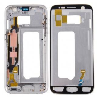 Gehäuse Rahmen Deckel kompatibel Samsung Galaxy S7 G930 G930F Kleber Silber