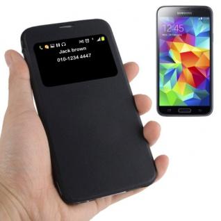 Smartcover Window Schwarz für Samsung Galaxy S5 Mini G800 Tasche Cover Case Neu