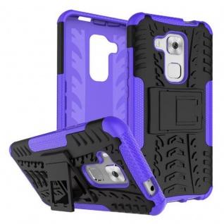 Hybrid Case 2teilig Outdoor Lila für Huawei Nova Plus Tasche Hülle Cover Schutz