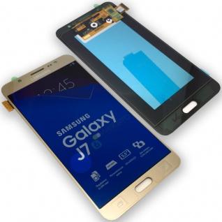 Display LCD Komplettset GH97-18855A Gold für Samsung Galaxy J7 J710F 2016 Ersatz - Vorschau 1