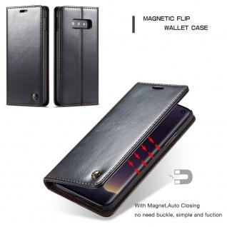 Schutzhülle Handy Tasche für Samsung Galaxy S10 Lite Kartenfächer Wallet Schwarz - Vorschau 2
