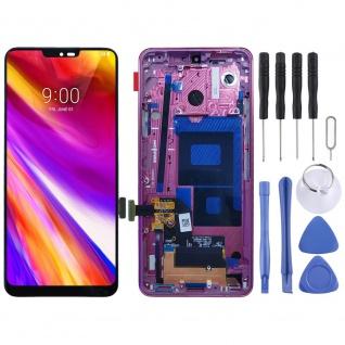 Für LG G7 ThinQ Display Full LCD Touch mit Rahmen Reparatur Rot Ersatz Teil Neu