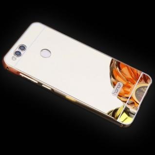 Spiegel / Mirror Alu Bumper 2teilig Gold für Huawei Honor 7X Tasche Hülle Etui